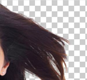 Применение Фонового Ластика для вырезания волос!