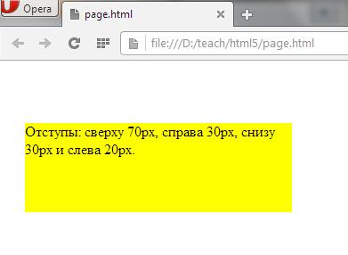 margin это внешний отступ в CSS