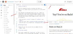 Проект Ruby on Rails на Replit.com