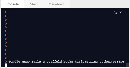 Scaffold на Ruby on Rails